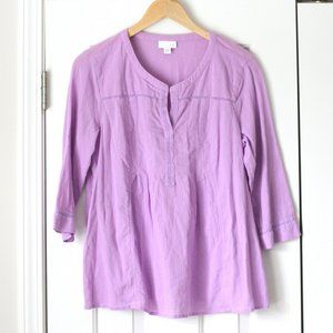 J Jill purple lavender gauze cotton top